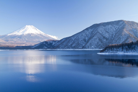 Mt Fuji in winter season