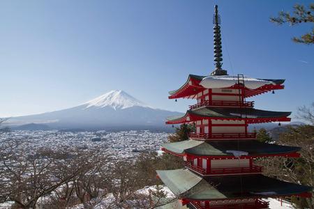 Mt  Fuji viewed from Chureito Pagoda point