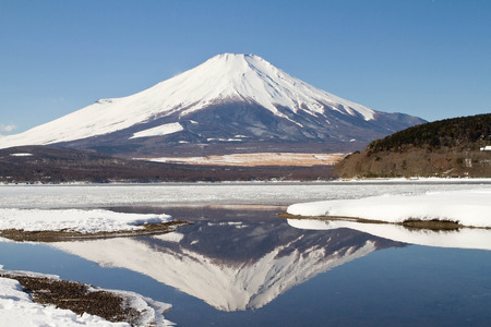Mt Fuji with the reflection