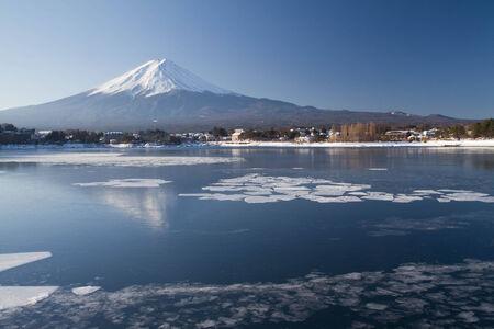 Mt Fuji from Kawaguchiko, Japan Stock Photo