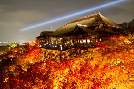 Light up of Kiyomizu Temple in Kyoto, Japan