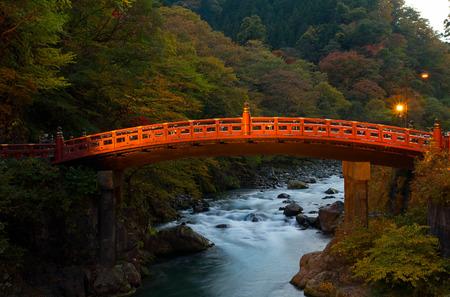 Shinkyo Bridge in Nikko Stock Photo