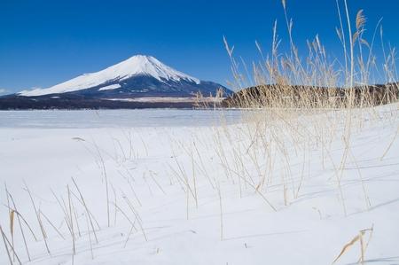 Mt Fuji in winter Stock Photo