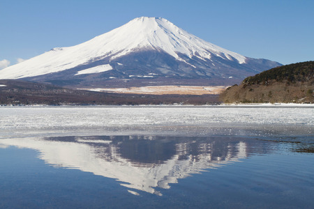 Mt Fuji with reflection