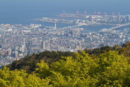 View from Mt Rokko for Osaka and Kobe town