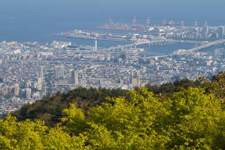 nishinomiya: View from Mt Rokko for Osaka and Kobe town