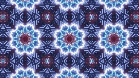 multi color kaleidoscope flower pattern