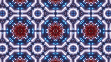 multi color kaleidoscope pattern. ornament with with very nice red