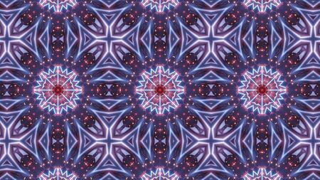 multi color kaleidoscope pattern with abstract cross
