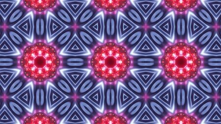 multi color kaleidoscope pattern with abstract Stock Photo