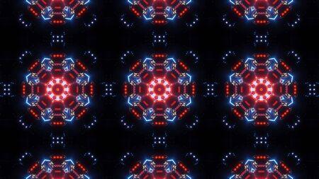 multi color futuristic kaleidoscope pattern. modern design background