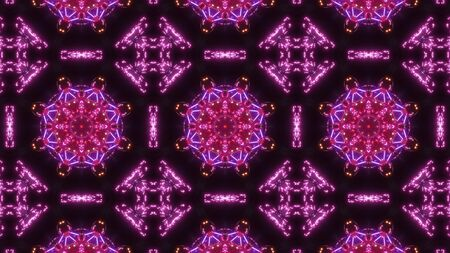 multi color kaleidoscope pattern. abstract ornament highly glowing Stock Photo