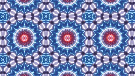 multi color kaleidoscope flower pattern.