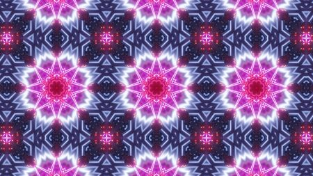 multi color kaleidoscope pattern abstract white star