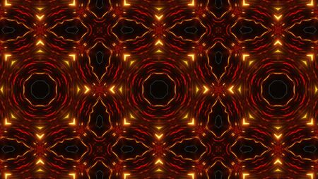 multi color kaleidoscope pattern with highly abstract shapes