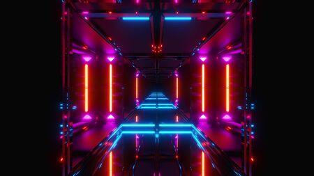 Futuristic Scifi Temple Seamless Looping Vjloop 3d Render Glowing