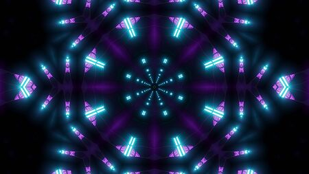 colorful scifi kalaidoscope with glowing pattern background wallpaper