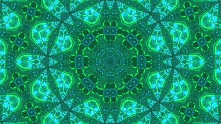 3D Illustration Green Floral Illusion Background wallpaper