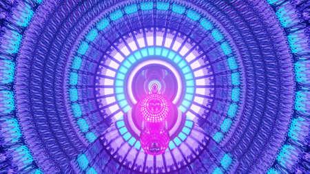Purple Rolling Magical Portal  3d rendering vj loop