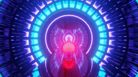 High Definition Cyber Wireframe Portal  3d illustration background