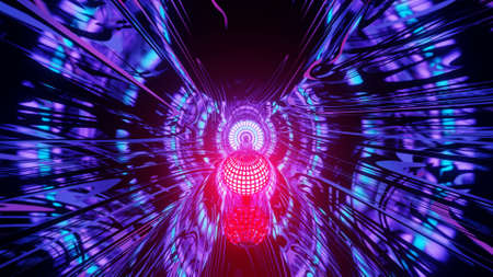 Majestic Dim Wormhole to the Future  3d illustration background
