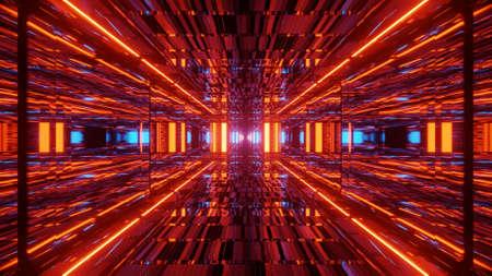 Futuristic Suspense Vivid Light Entrance  3d illustration background