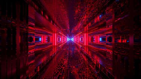 Red Laser Futuristic Spectrum  3d illustration background