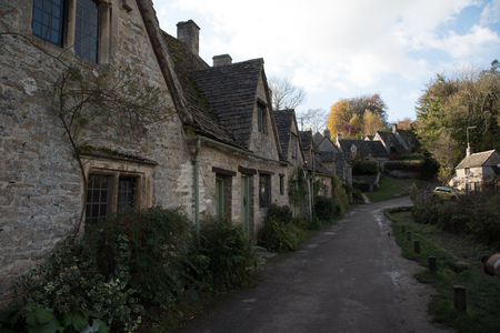 Houses in the village of Bibury, England Banque d'images