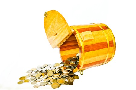 Barrels and Coin Stock Photo - 7383600