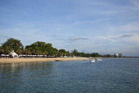 sanur: Unoccupied beach at Sanur in Bali