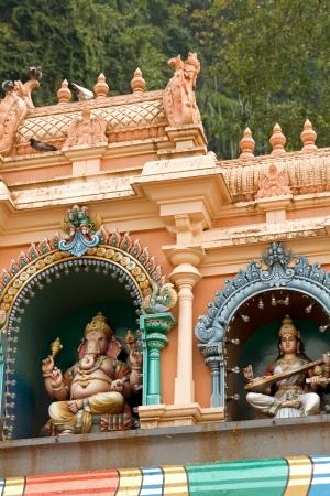 Ornate exterior of a Hindu temple at the Batu caves in Kuala Lumpur Stock Photo - 14185059