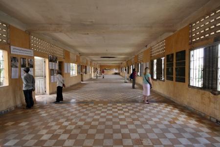 phnom penh: Inside the Tuol Sleng, Security Prison S-21, in Phnom Penh, Cambodia