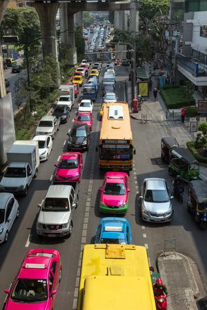horrific: Horrific traffic jam in Bangkok, Thailand