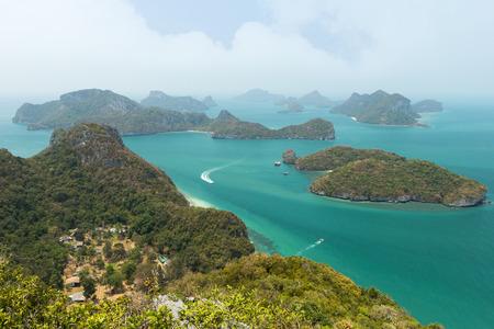 ang thong: Archipelago at the Angthong (Ang Thong) National Marine Park in Thailand, viewed from above