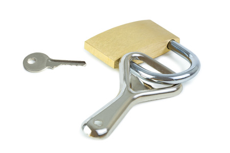 alcoholism: Key and a bottle opener locked to a padlock. Concept photo of drinking problem and alcoholism.
