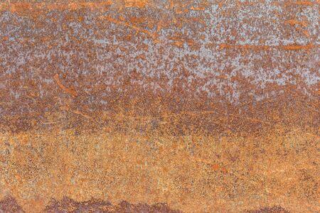 metal sheet: Old sheet metal plate full of rust
