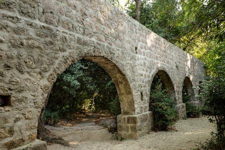 aqueduct: Aqueduct at the Trsteno arboretum in Croatia.