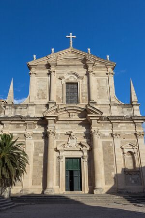 jesuit: Jesuit Church of St. Ignatius at the Old Town in Dubrovnik, Croatia. Stock Photo