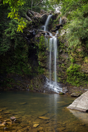 territories: Brides Pool Waterfall in New Territories, Hong Kong, China. Stock Photo