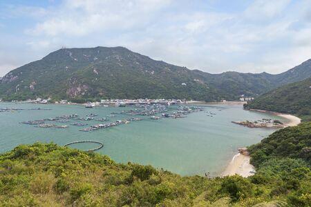 sok: View of Sok Kwu Wan fisher village at the Lamma Island in Hong Kong, China.