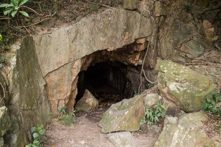 Kamikaze grotto or cave at the Lamma Island in Hong Kong, China.