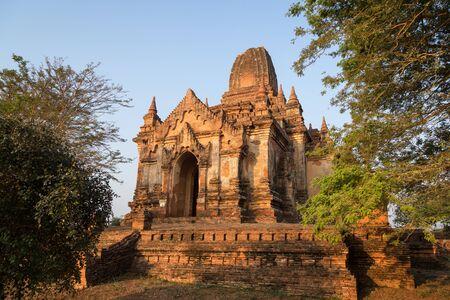 Shwe Leik Too temple in the morning in Bagan, Myanmar (Burma).
