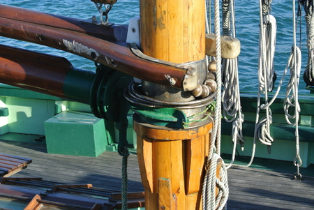 cordage: Boat mast Stock Photo