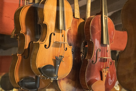 double reed: Violins Stock Photo