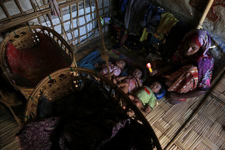 RAKHINE STATE, MYANMAR - NOVEMBER 05 : Hundreds of Muslim Rohingya are suffering severe malnutrition in overcrowded camps in Myanmars Rakhine state, on NOVEMBER, 2015 in Sittwe, Myanmar.