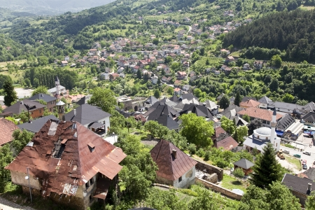 bombed: Bombed house at Jajce, Bosnia and Herzegovina