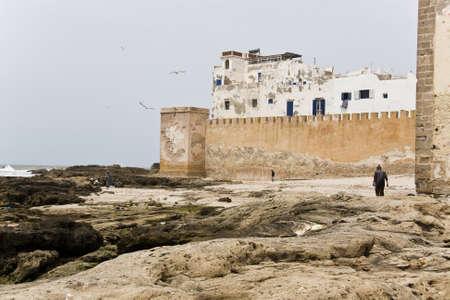 The walls in Essaouira, coast of Morocco