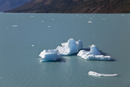Icebergs at the Perito Moreno glacier, Argentina photo