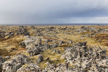 volcanic landscape: Volcanic landscape at the Snaefellsnes peninsula coast, Iceland.