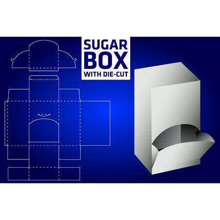 die: Sugar box with die-cut Illustration